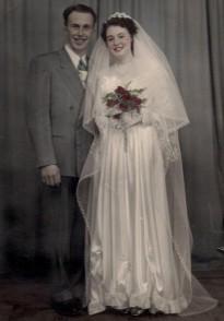 1950 John & Elsie wedding (color)